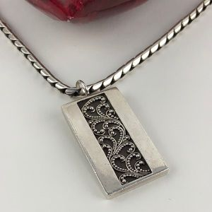 Lois Hill Sterling Silver Scroll Pendant
